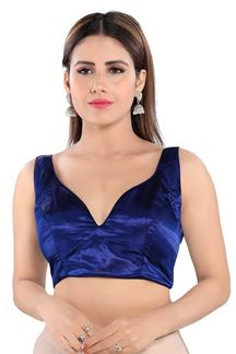 Picture of Trendy Navy Blue Colored Readymade Designer Blouse
