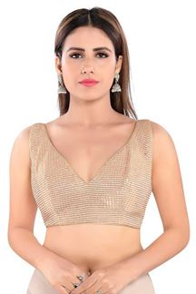 Picture of Copper Colored Trendy Readymade Designer Blouse