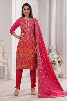 Picture of Pink Colored Designer Pant Style Suit