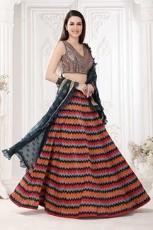Picture of Multi Colored Designer lehenga Choli