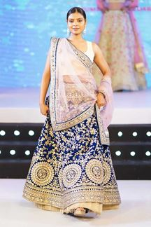 Picture of Flattering Blue Colored Party Wear Embroidered Lehenga Choli