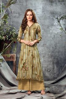 Picture of Infuse Beige Colored Printed Cotton Kurti