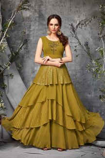 Picture of Classy Green Colored Party Wear Kurti