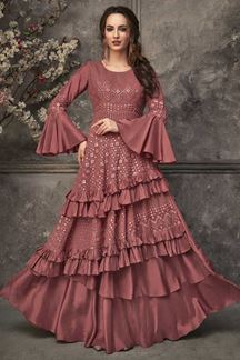 Picture of Pleasant Onion Pink Colored Stylised kurti