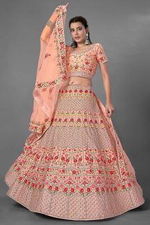 Picture of Attractive peach Colored Designer Lehenga Choli