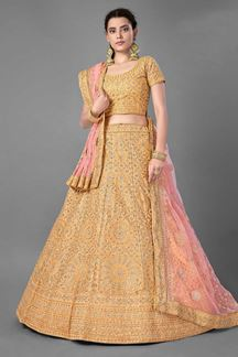 Picture of Ravishing Yellow Colored Designer Lehenga Choli