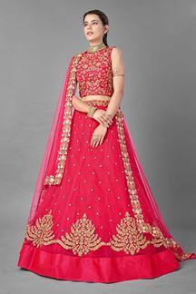 Picture of Refreshing Pink Colored Designer Lehenga Choli
