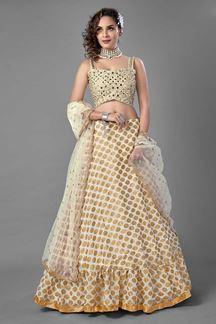 Picture of Amazing White Colored Designer Lehenga Choli