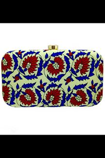 Picture of Exclusive Pista Colored Designer Synthetic Fabric Clutches