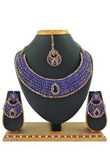 Picture of Blue Colored Imitation Jewellery-Necklace Set