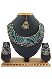 Picture of Sky blue Imitation Jewellery-Necklace Set