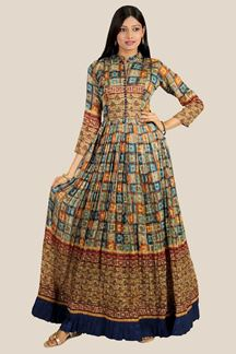Picture of Charming Printed Georgette Gown