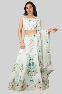 Picture of Exceptional Light Sea Green Colored Lehenga Choli
