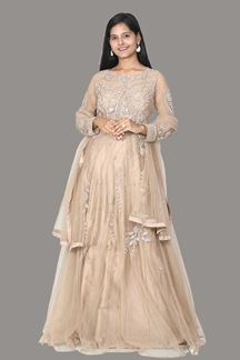 Picture of Partywear Designer Golden Colored Gown