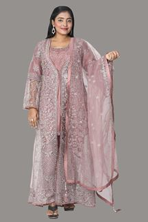 Picture of Onion Pink Colored Pant With Jacket Suit