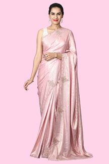 Picture of Sophisticate Pink Colored Party wear Saree