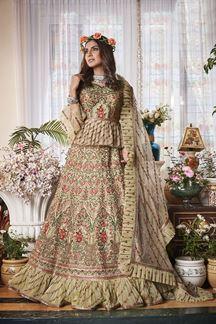 Picture of Exotic Green Colored Net Lehenga Choli