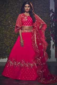 Picture of Adorable Pink Colored Partywear Lehenga Choli
