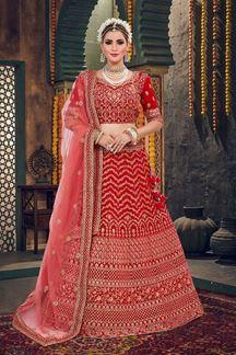 Picture of Elegant Red Colored Lehenga Choli