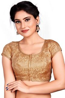 Picture of Elegant Gold Colored Readymade Blouse