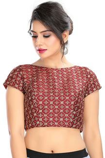Picture of Stylish Maroon Colored Latest Readymade Blouse