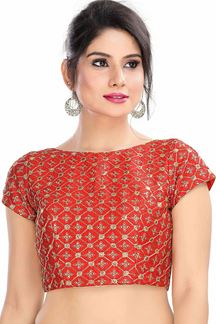 Picture of Exclusively Red Colored Latest Readymade Blouse