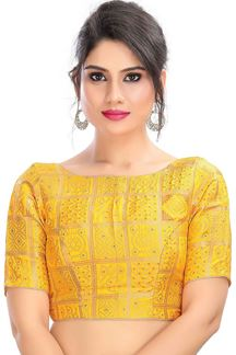 Picture of Wonderful Yellow Colored  Latest Readymade Blouse