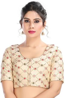 Picture of Blooming  Off white Colored Latest Readymade Blouse