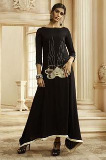 Picture of Black Colored designer kurti