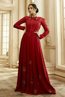 Picture of Atypical Red Colored designer long kurti