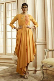 Picture of Yellow Colored Designer Kurti