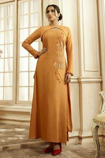 Picture of Delightful Orange Colored Designer Kurti