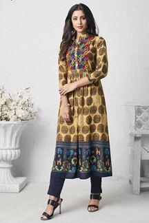 Picture of Pretty Multi-Colored Designer Printed Kurti