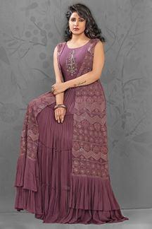 Picture of Compromising Purple Colored Designer Kurti