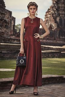 Picture of Maroon Colored Glamours Designer Kurti