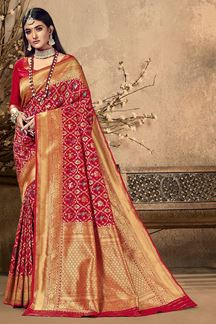 Picture of Exclusive Red Colored Festive Wear Silk Saree