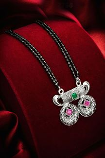 Picture of Oxidized Silver Imitation Mangalsutra