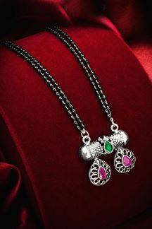 Picture of Silver Oxidized Imitation Mangalsutra