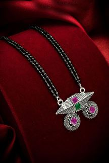 Picture of Tribal Silver Oxidized Imitation Mangalsutra