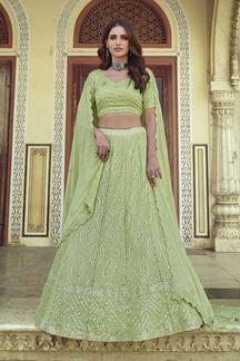 Picture of Amazing Green Colored Designer Georgette Lehenga Choli
