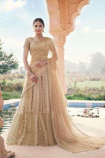Picture of Beige Colored Designer Bridal Wear Lehenga Choli
