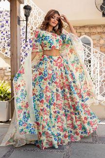 Picture of Wedding Designer Multi-Colored Printed Lehenga Choli