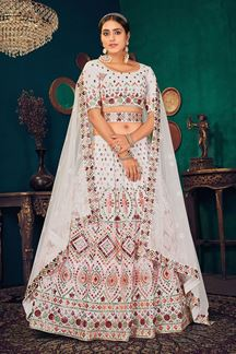 Picture of White Colored Partywear Lehenga Choli
