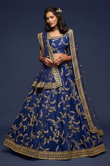 Picture of Designer Blue Colored Traditional Lehenga choli