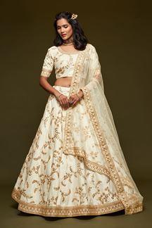 Picture of Designer White Colored Traditional Lehenga choli