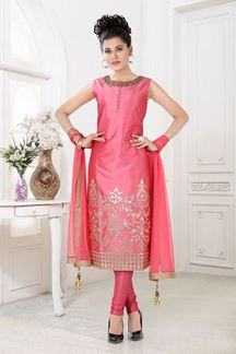 Picture of Pink Colored Festive Wear Suit